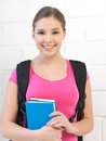 Happy and smiling teenage girl bright picture of Royalty Free Stock Photography