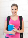 Happy and smiling teenage girl bright picture of Royalty Free Stock Image
