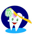Happy smiling tooth  illustration Royalty Free Stock Images