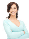 Happy and smiling woman bright picture of Stock Photography