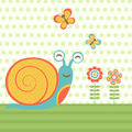 Happy snail illustration of vector format Royalty Free Stock Photography