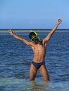 The Happy Snorkeler Royalty Free Stock Photos