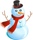Happy snowman Stock Photos