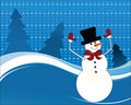 Happy snowman arms in the air Royalty Free Stock Photo