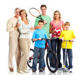 Happy sportive family Royalty Free Stock Photos