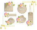 Happy spring sale tag collection Stock Images