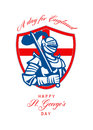 Happy St George A Day for England Greeting Card Royalty Free Stock Image