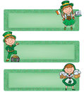 Happy st patrick horizontal banners contains transparent objects eps Stock Photos