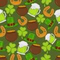 Happy St. Patricks Day celebration background.