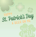 Happy St. Patrick's Day Labels Royalty Free Stock Photos