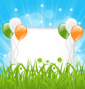 Happy st patricks day celebration card illustration Royalty Free Stock Image