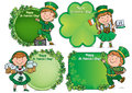 Happy st patricks day greeting banners contains transparent objects eps Stock Images