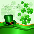 Happy st patricks day vector illustration of background Royalty Free Stock Images