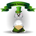 Happy st patricks day on a white background Royalty Free Stock Images