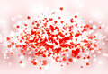 Happy St Valentine day bokeh background