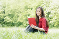 Happy student outdoors relaxed Royalty Free Stock Photo