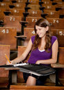 Happy Student Taking Notes Royalty Free Stock Photo