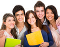 Happy students Stock Images