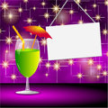 Happy summer cocktail party background Royalty Free Stock Image