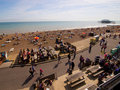 Happy summer holiday in Brighton Beach Stock Photography
