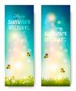 Happy Summer Holidays Backgrou...