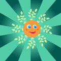 Happy summer sun smiling Royalty Free Stock Images