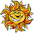 Happy Sun Cartoon with a Big Smile Stock Images