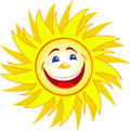 Happy sun cartoon fun star cloud Royalty Free Stock Photography