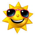 Happy Sun Character Royalty Free Stock Photo
