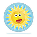 Happy sun sticker Stock Photos