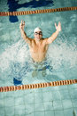 Happy Swimmer Stock Images