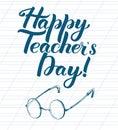 Happy Teacher Day inscription