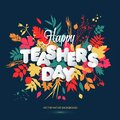 Happy Teacher s Day Layout Design with volume paper Letters. Card , Invitation or Greeting Template.