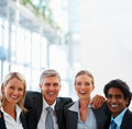 Happy team of business people together Royalty Free Stock Photos