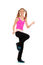 Happy teen workout zumba fitness Royalty Free Stock Image