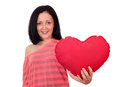 Happy teenage girl with heart Stock Images