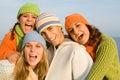 Happy teens Royalty Free Stock Photo
