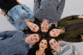 Happy teens group Royalty Free Stock Photo