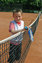 Happy tennis child Stock Image