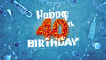 Happy 40th Birthday Card with beautiful details Royalty Free Stock Photo