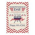Happy 4th of July BBQ grill poster. Template for fourth of July BBQ party. USA independence day background. Vector EPS