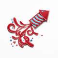 Happy 4th of July. Royalty Free Stock Photo