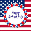 Happy 4th july greeting card, poster. American Independence Day template for your design. Vector illustration. Royalty Free Stock Photo