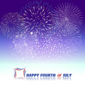 Happy 4th July independence day  with fireworks bacground Royalty Free Stock Photo