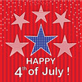 Happy th of july red stars background colorful art work for any design with for makings Royalty Free Stock Photo