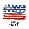Happy 4th of July, USA Independence Day. Vector abstract grunge