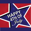 Happy th of july vector star design independence day usa Stock Photos