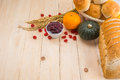 Happy thanksgiving autumn fruit for thanksgiving nature fall on wood selective focus Royalty Free Stock Images