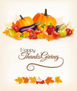Happy Thanksgiving background with colorful autumn leaves