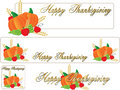 Happy thanksgiving banner Royalty Free Stock Photos